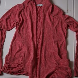 Maurices Shrug gathered pockets Red